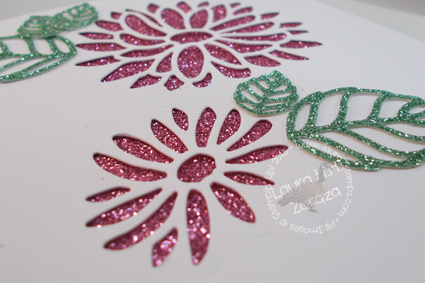 Glimmer flowers and leaves