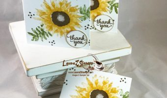 "3""x 3"" Sunflower cards"